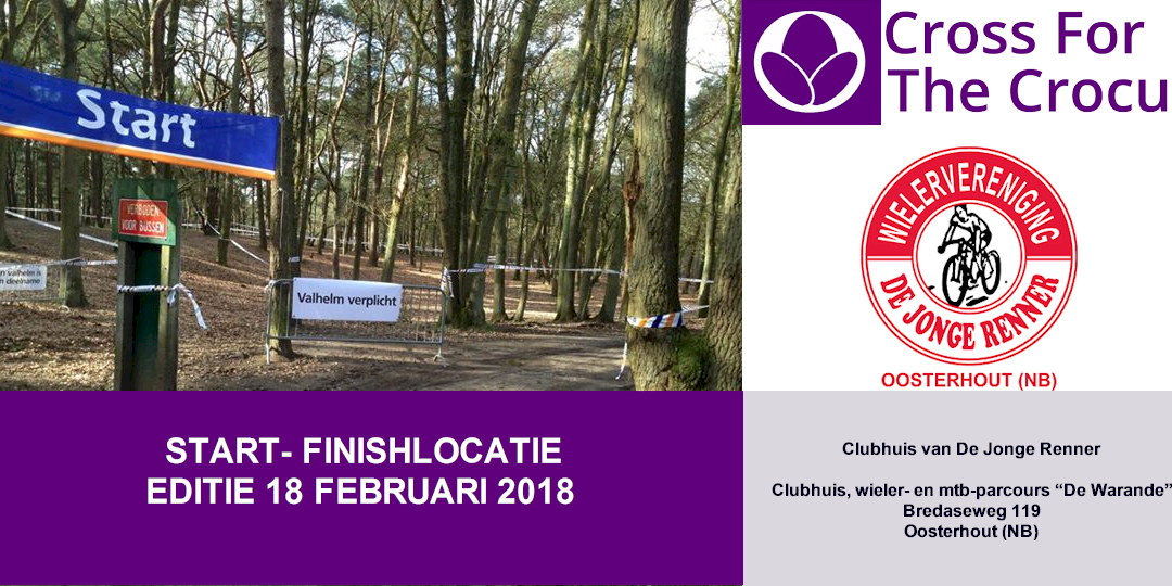 Andere START- & FINISHLOCATIE CROSS 18 februari 2018